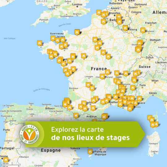 Explorer la carte des lieux de stages FFJR