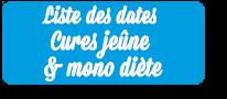 Liste des cures jeune et mono diete JoliJeûne
